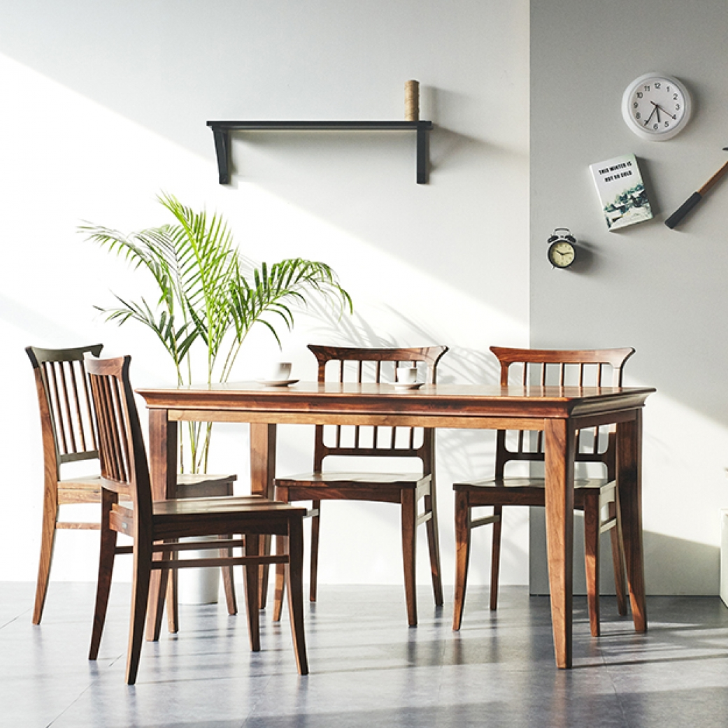 [미들랜드] 4인식탁 Set(4 Dining Table & 4 Chairs)