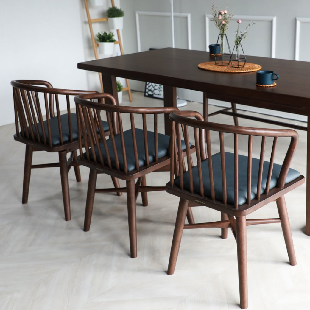 [휴버트] 6인식탁 Set(6 Dining Table & 6 Chairs)
