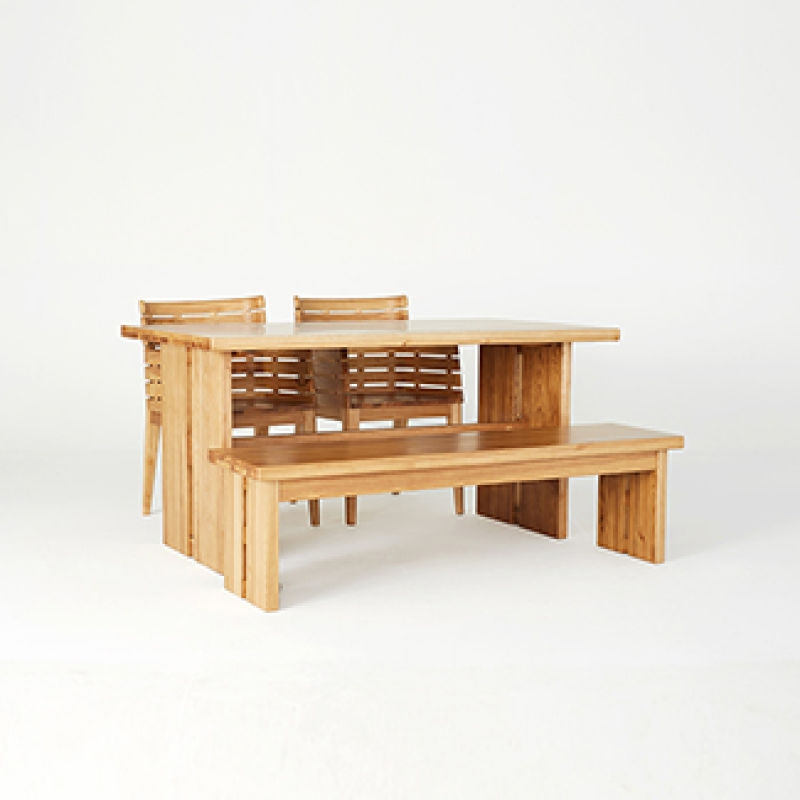 [베일리] 4인식탁 Set(4 Dining Table & 2 Chairs & 2 Dining Bench)