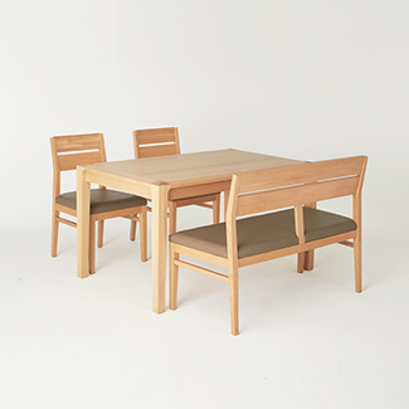 [클로에] 4인식탁 Set(4 Dining Table & 2 Chairs & 1 Bench)