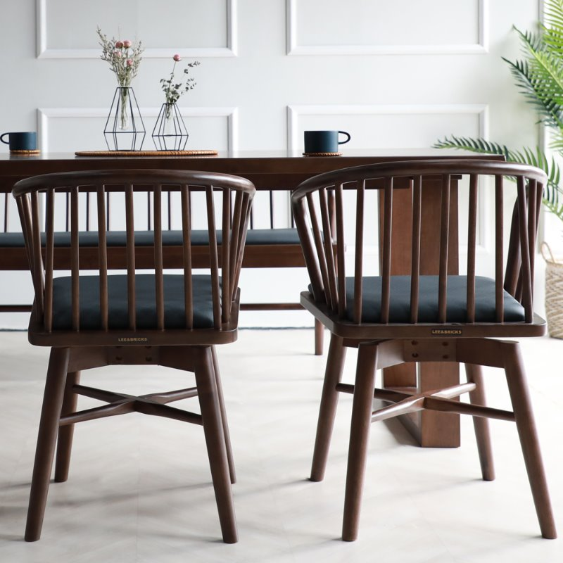 [휴버트] 4인식탁 Set(4 Dining Table & 4 Chairs)